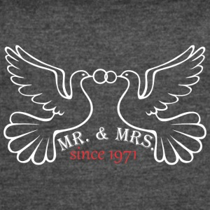 Mr And Mrs Since 1971 Married Marriage Engagement - Women's Vintage Sport T-Shirt