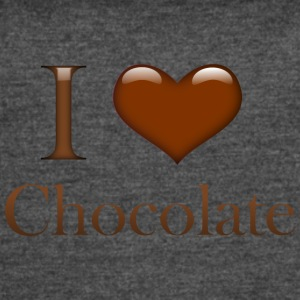 I Heart Chocolate - Women's Vintage Sport T-Shirt