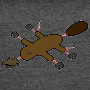 Platypus Diagram - Women's Vintage Sport T-Shirt