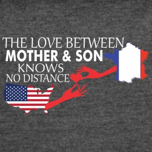 Mother & Son Love Knows No Distance US & France - Women's Vintage Sport T-Shirt