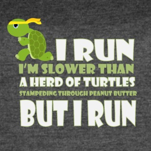 I run I'm slower than a herd of turtles - Women's Vintage Sport T-Shirt