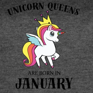 UNICORN QUEENS BORN IN JANUARY - Women's Vintage Sport T-Shirt
