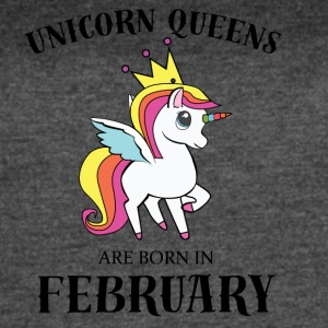 UNICORN QUEENS BORN IN FEBRUARY - Women's Vintage Sport T-Shirt