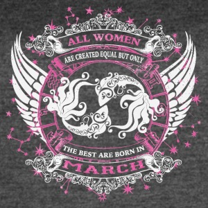 The best are born in March PISCES - Women's Vintage Sport T-Shirt