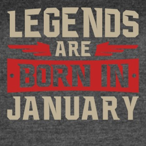 Legends Are Born January - Women's Vintage Sport T-Shirt