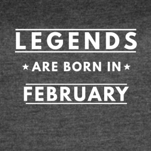 legends are born in February - Women's Vintage Sport T-Shirt