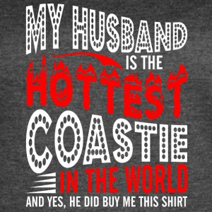 My Husband Is The Hottest Coastie - Women's Vintage Sport T-Shirt
