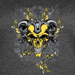 yellow demon skull - Women's Vintage Sport T-Shirt