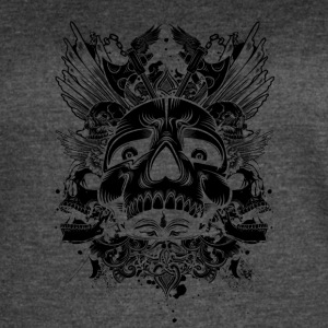 skull_with_axes_black - Women's Vintage Sport T-Shirt