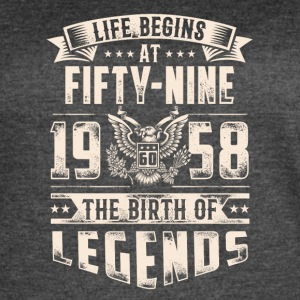 Life Begins At Fifty Nine Tshirt - Women's Vintage Sport T-Shirt