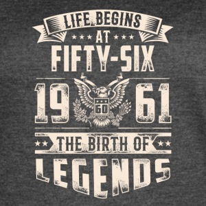 Life Begins At Fifty Six tshirt - Women's Vintage Sport T-Shirt