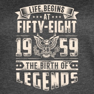 Life Begins at Fifty-Eight Legends 1959 for 2017 - Women's Vintage Sport T-Shirt