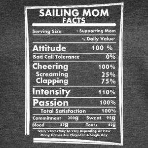Sailing Mom Facts Daily Values May Be Vary - Women's Vintage Sport T-Shirt
