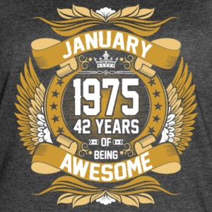 Anuary 1975 42 Years Of Being Awesome - Women's Vintage Sport T-Shirt