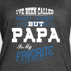 Papa Is My Favorite T Shirt - Women's Vintage Sport T-Shirt