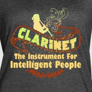 CLARINET GENIUS POCKET AREA SHIRT - Women's Vintage Sport T-Shirt