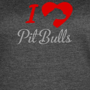 I LOVE PITBULLS ITS PEOPLE THAT ANNOY ME - Women's Vintage Sport T-Shirt