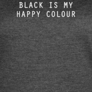 BLACK IS MY HAPPY COLOUR RINGER - Women's Vintage Sport T-Shirt