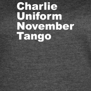 Charlie Uniform November Tango - Women's Vintage Sport T-Shirt