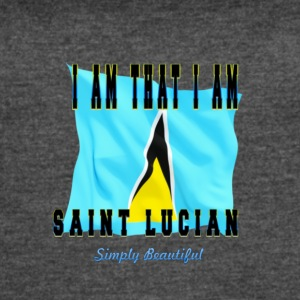 Saint Lucian Sticker - Women's Vintage Sport T-Shirt
