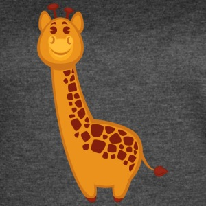 giraffe-jungle-wildlife-cartoon-positive - Women's Vintage Sport T-Shirt