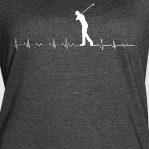 Golf heartbeat lover - Women's Vintage Sport T-Shirt