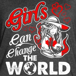 Canadian Girls Can Change The World - Women's Vintage Sport T-Shirt