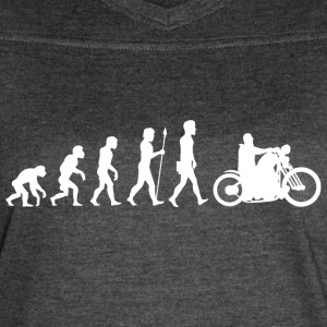 Evolution/Motorcycle/Motorcyclist/Biker/Bike - Women's Vintage Sport T-Shirt