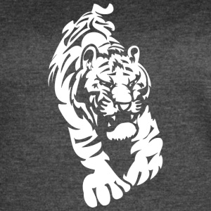 angry_tiger_white - Women's Vintage Sport T-Shirt