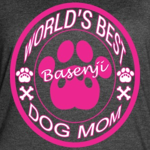 World Best Basenji Dog Mom - Women's Vintage Sport T-Shirt