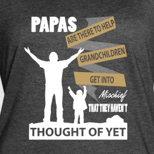 Papas Are There To Help Grandchildren T Shirt - Women's Vintage Sport T-Shirt
