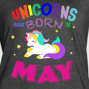 Unicorns Are Born in May - Women's Vintage Sport T-Shirt