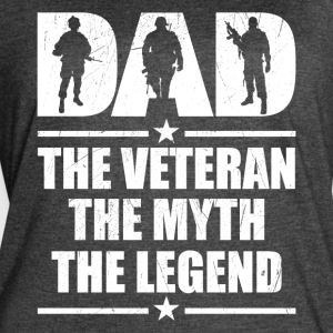 Veteran DAD The Man The Myth The Legend - Women's Vintage Sport T-Shirt