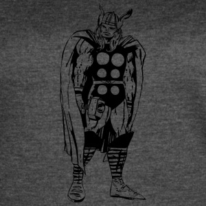 80's Style Marvel Comics Thor (Black and White) - Women's Vintage Sport T-Shirt