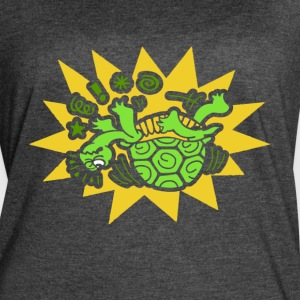 TURTLE ON HIS BACK SHIRT - Women's Vintage Sport T-Shirt