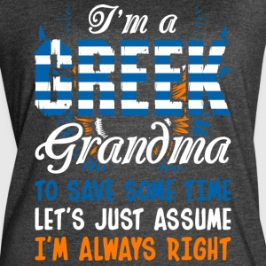 Im A Greek Grandma - Women's Vintage Sport T-Shirt