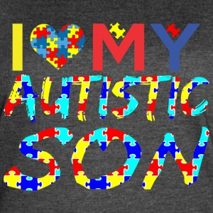 I Love My Autistic Son Autism Awareness - Women's Vintage Sport T-Shirt