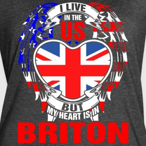 I Live In The Us But My Heart Is In Briton - Women's Vintage Sport T-Shirt