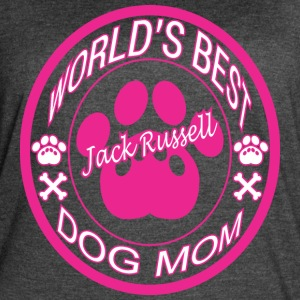 World Best Jack Russell Dog Mom - Women's Vintage Sport T-Shirt