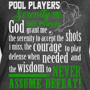 Pool Players Serenity Prayer T Shirt - Women's Vintage Sport T-Shirt