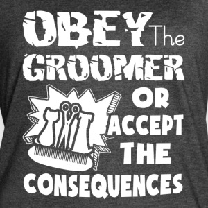 OBEY THE GROOMER SHIRT - Women's Vintage Sport T-Shirt