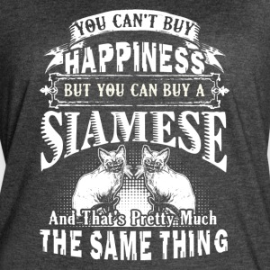 Siamese Cats Are Happiness Shirt - Women's Vintage Sport T-Shirt