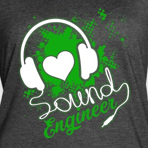 Sound Engineer Tee Shirt - Women's Vintage Sport T-Shirt