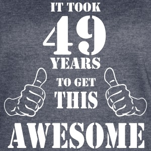 49th Birthday Get Awesome T Shirt Made in 1968 - Women's Vintage Sport T-Shirt