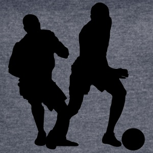 Soccer football player silhouette 6 - Women's Vintage Sport T-Shirt