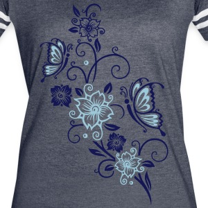 Cherry blossoms with butterflies - Women's Vintage Sport T-Shirt