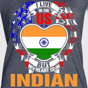 I Live In The Us But My Heart Is In Indian - Women's Vintage Sport T-Shirt