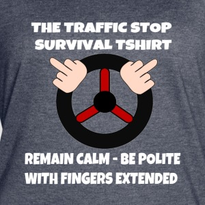 The Traffic Stop Survival Rules - Women's Vintage Sport T-Shirt