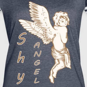 Shy Angel with Wings - Women's Vintage Sport T-Shirt