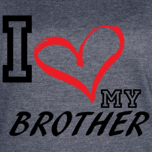I_LOVE_MY_BROTHER - PLUS SIZE - Women's Vintage Sport T-Shirt